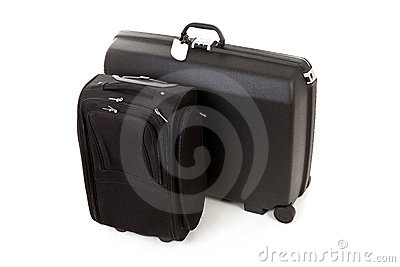 Twee zwarte koffers