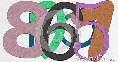 Tweede Aftelprocedure tien met Kraftpapier-document stock illustratie
