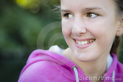 Tween Girl Outdoors