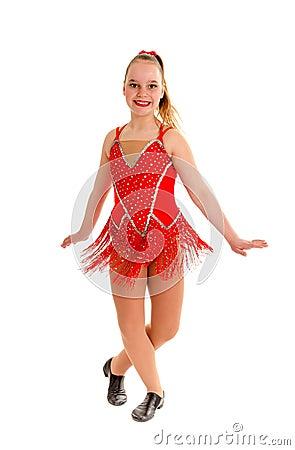 Tween Jazz Dancer in Red