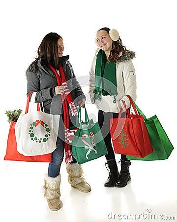 Tweens Meet Christmas Shopping