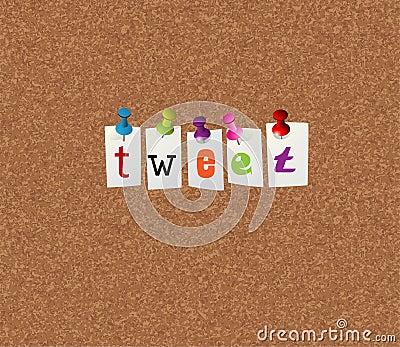 Tweet notice concept
