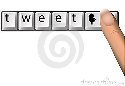 Tweet on Social Netork Computer Keys