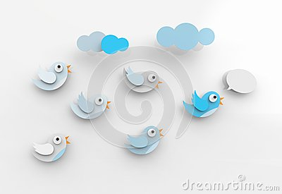 Tweeting birds and followers