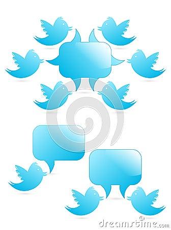 Tweeting to followers Editorial Stock Image