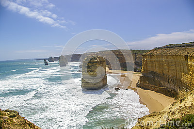 Twelve Apostles along Great Ocean Road
