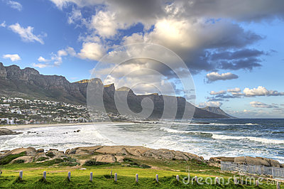 Twelve Apostles Mountain Range and Camps Bay, Sout