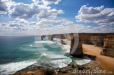 Twelve Apostles Scenic view in Australia