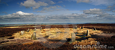 Twelve apostles stone circle - panoramic view