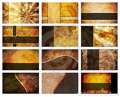 Twelve Business Card Backgrounds set