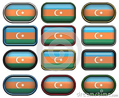 Twelve buttons of the Flag of aZerbaijan