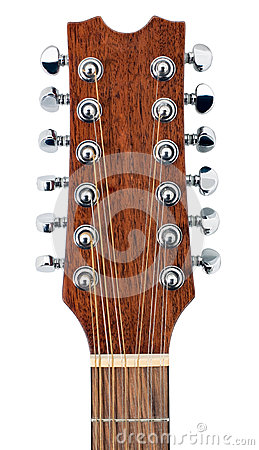 Twelve String Acoustic Guitar Head Royalty Free Stock Photo - Image: 25295035