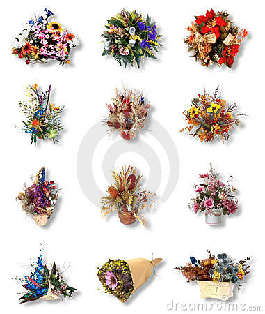 Twelve very pretty bouquet of flower