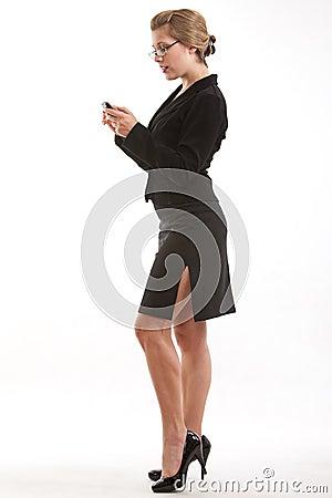Twenties caucasian blond business woman