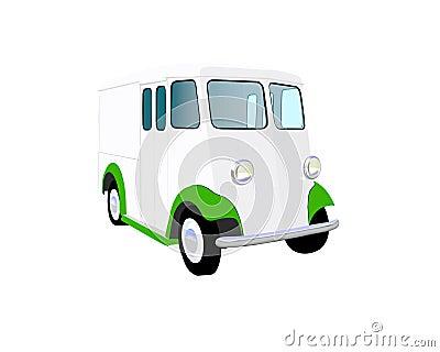 Twenties milk truck