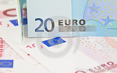Twenty euro note - soft focus