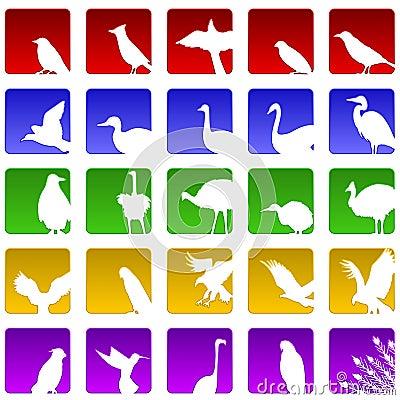 Free Twenty Five Bird Icons Stock Photos - 14590963