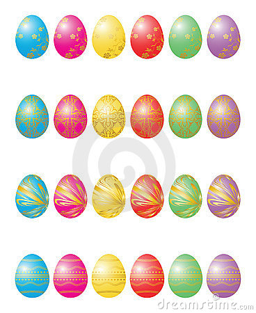 Twenty four Easter eggs