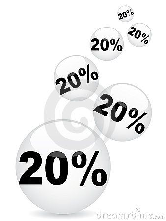 Twenty percent discount background