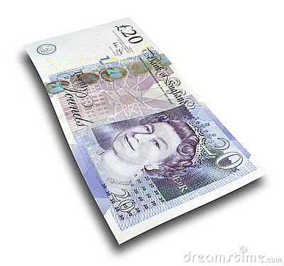 Twenty pound note Editorial Photography