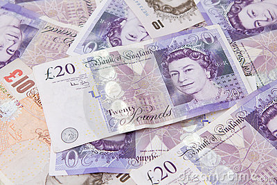 Twenty pound note Editorial Stock Image