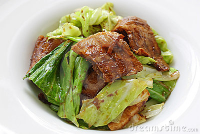 Twice cooked pork , chinese food