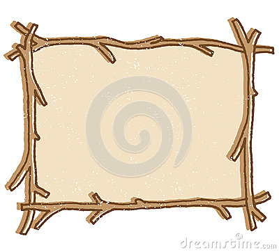 Twig Frame vector
