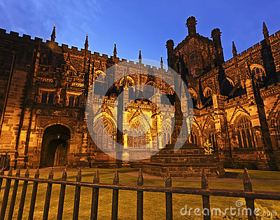 A Twilight Chester Cathedral Shot
