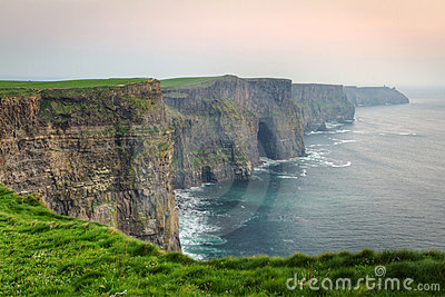 Twilight at Cliffs of Moher