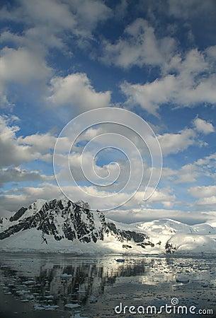 Twilight: Icy mountains reflec