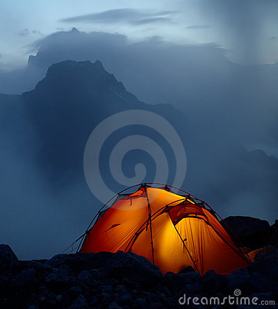 Free Twilight In The Mountains Royalty Free Stock Photo - 18376385