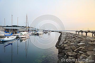 Twilight marina