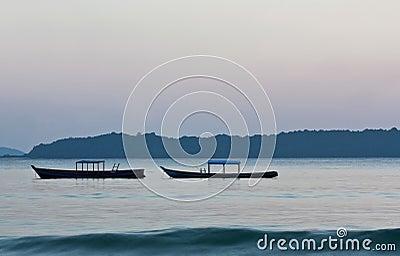 Twilight at the ocean