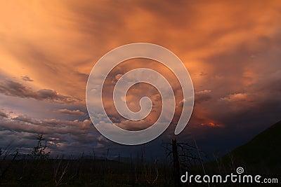 Twilight over Glacier National Park