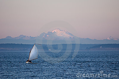 Twilight sailing in Puget Sound
