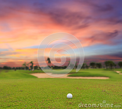 Free Twilight Time  On Golf Field Royalty Free Stock Photo - 32616855