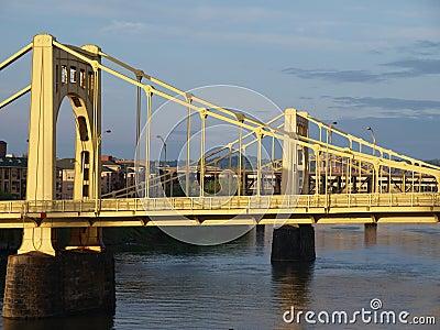 Twin Bridges in Pittsburgh