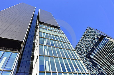 Twin business towers - architectural composition