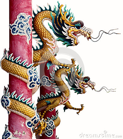 Free Twin Chinese Dragon Stock Photography - 33402832