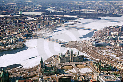 Twin cities Ottawa Ontario and Gatineau Quebec
