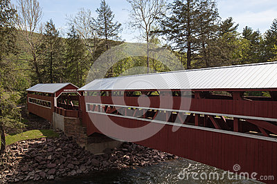 Twin Covered Bridges Forks Pennsylvania