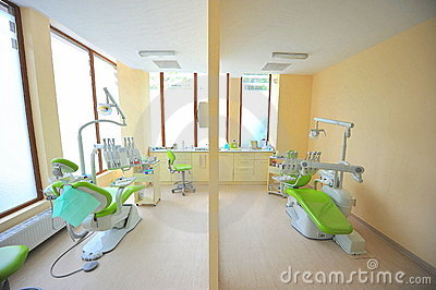 Twin dental chairs (dentists office)