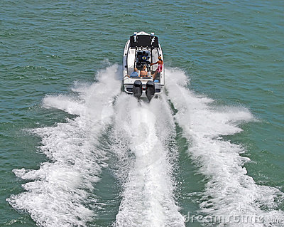 Twin Engined Outboard Motorboat