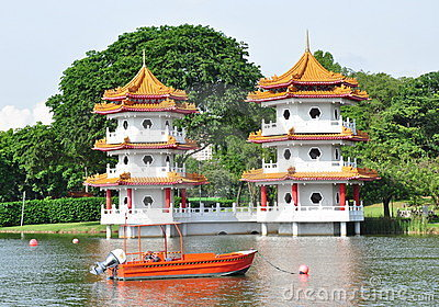 Twin Pagodas Stock Photos - Image: 14602953