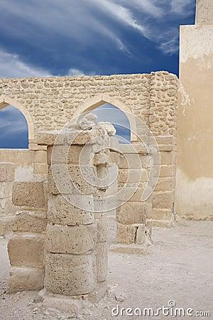 Twin pillars at shallow DOF, Khamis Mosque Bahrain