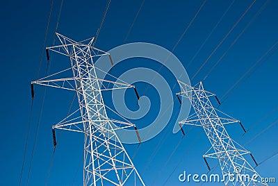 Twin Power Line Towers