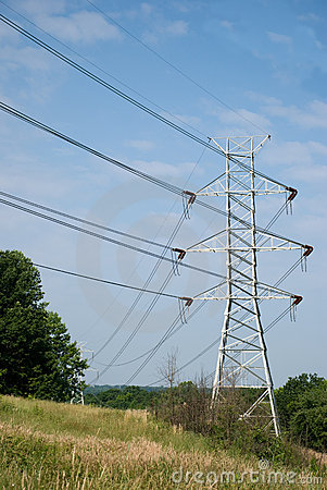 Free Twin Power Line Towers Stock Images - 9805064