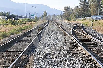 Twin Railway Tracks