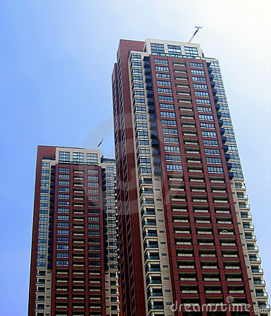 Twin residential skycrapers