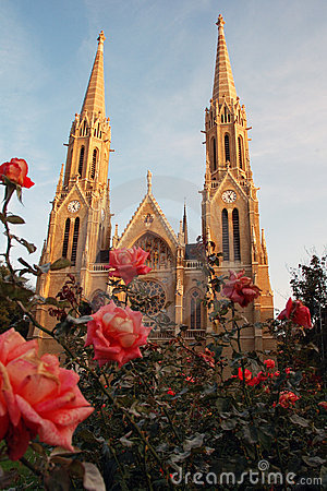 Twin spire cathedral